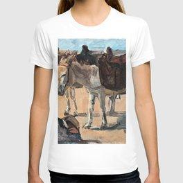 Isaac Lazarus Israels - Two donkeys - Digital Remastered Edition T-shirt