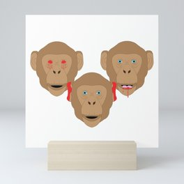 Three Wise Monkeys Mini Art Print
