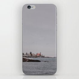 Lighthouse Winter Waterfront on Lake Superior iPhone Skin