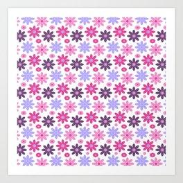 Princess Flowers Art Print