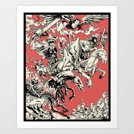 4 Horsemen Art Print