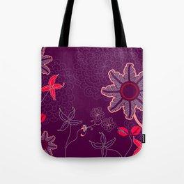 jungle delights deep velvet art print Tote Bag