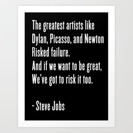 If We Want to be Great Art Print