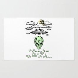 Funny Alien UFO Flying Saucers Prank Morse Code Aliens Like Coffee Rug
