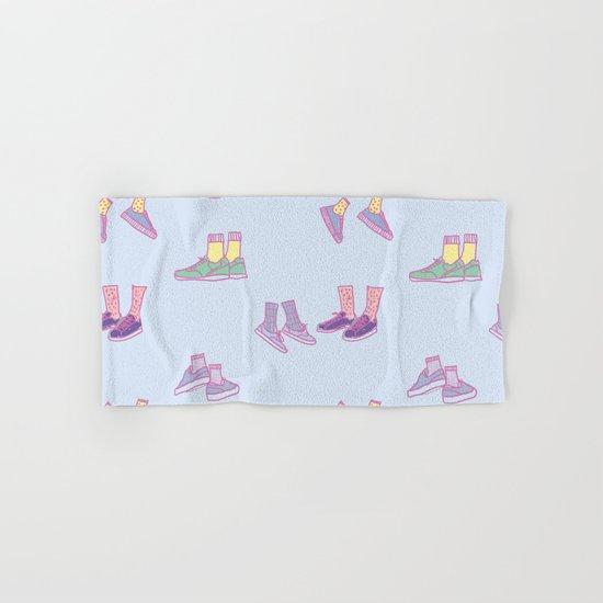 Pastel Walking Sneakers Hand & Bath Towel