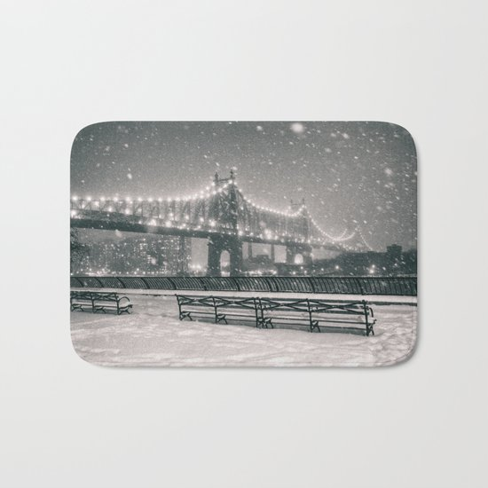 New York City Snow Bath Mat