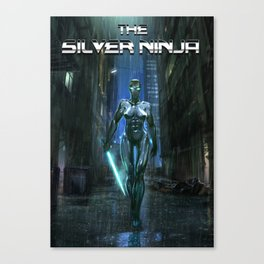 The Silver Ninja Canvas Print