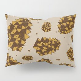 pine cones. abstract pattern of pine cones and nuts Pillow Sham