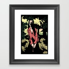 Shadows in the woods #1 Framed Art Print