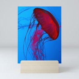 Red Jellyfish Mini Art Print