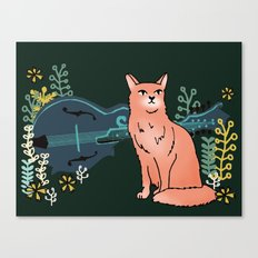 Moggy & Mandolin Canvas Print