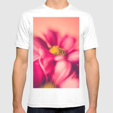Flower Power (Hot pink) Mens Fitted Tee White MEDIUM