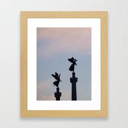 Vittoriano angels at sunset 1 Framed Art Print