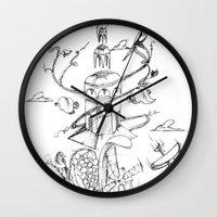 poland Wall Clocks featuring O'Prime Zielona Góra Poland by O'Prime