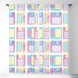 Pixel floppy disks pattern Blackout Curtain