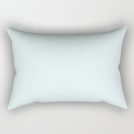 Duck Egg Pale Aqua Blue and White Vertical Thin Pinstripe Pattern Rectangular Pillow