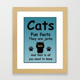 Cats Fun Facts Framed Art Print
