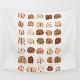 Nice Bum Body Positive butts abstract Wall Tapestry