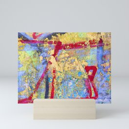 Textures in paint Mini Art Print