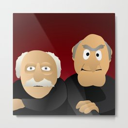 Statler & Waldorf - Muppets Collection Metal Print