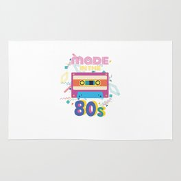 Made In The 80s Cassette Tapes Retro Birthday Rug