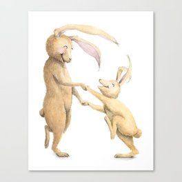 R is for Rabbits! Letters from the Laugh-A-Bit Alphabet by BirdsflyOver ABC Nursery Art Canvas Print