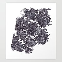 zentangle Art Prints featuring Zentangle; by Shivani C