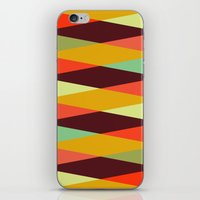 diamonds iPhone & iPod Skins featuring multicolor diamond pattern by Gary Andrew Clarke