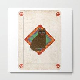 Cardcat Metal Print