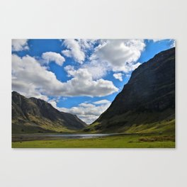 Highland Blue and Green Canvas Print