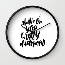 Shine On You Crazy Diamond Wall Clock