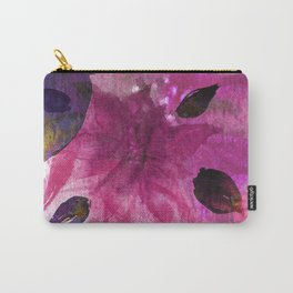 Watercolor Fuchsia Mirage Carry-All Pouch