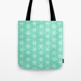 Asterisk Small - Turquoise Tote Bag