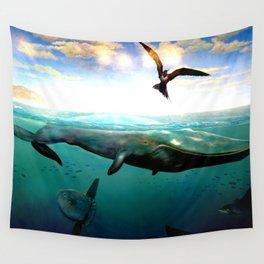 Underwater Scene Painting Wall Tapestry