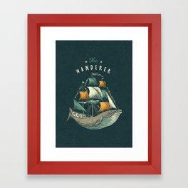 Whale | Petrol Grey Framed Art Print