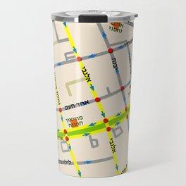 Tel Aviv map - Rothschild Blvd. Hebrew Travel Mug