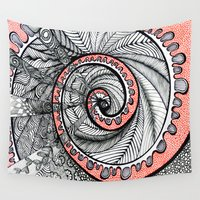 portal Wall Tapestries featuring Portal by Gina Miranda Art