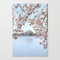 Cherry Blossoms in Washington, DC Canvas Print