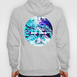 circuit board blue Hoody