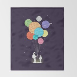 Space Gift Throw Blanket