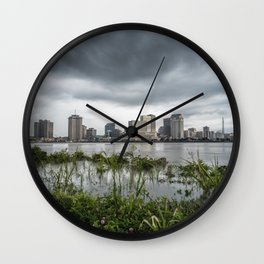 New Orleans Storm Wall Clock