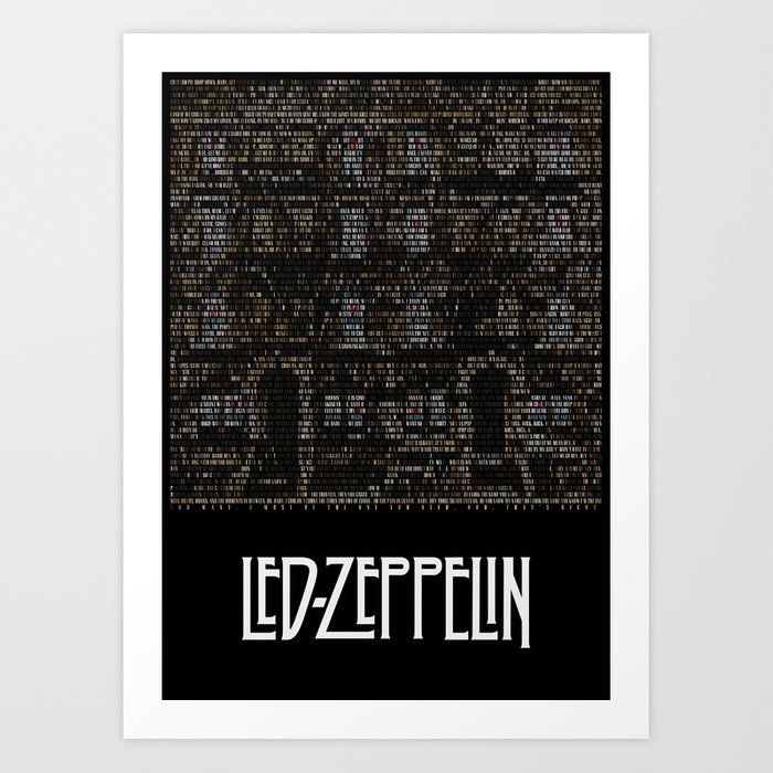Physical graffiti zeppelin lyrics print art print