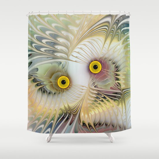 Abstract Owl Shower Curtain