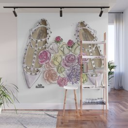Ballerina's Dream Shoes Wall Mural