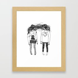 Love is for suckers Framed Art Print
