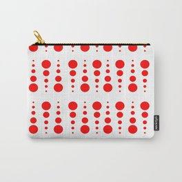 Dots (red & white) Carry-All Pouch