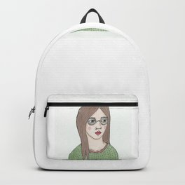 Girl with Glasses Backpack