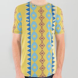 Bright Boho Tribal Pattern All Over Graphic Tee