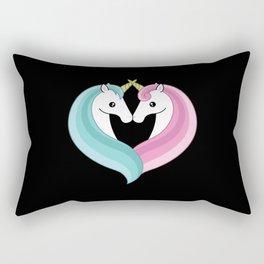 Unicorn heart Rectangular Pillow