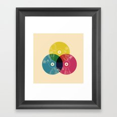 Music is the colors of life Framed Art Print